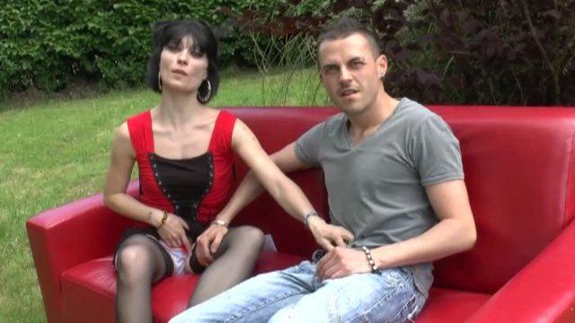 Porno français d'un casting sexe en plein air