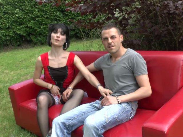 Porno français d'un casting sexe en plein air !